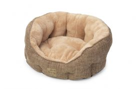 Natural Hessian & Plush Oval Bed